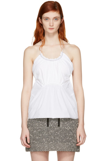 3.1 Phillip Lim - White Gathered Tank Top