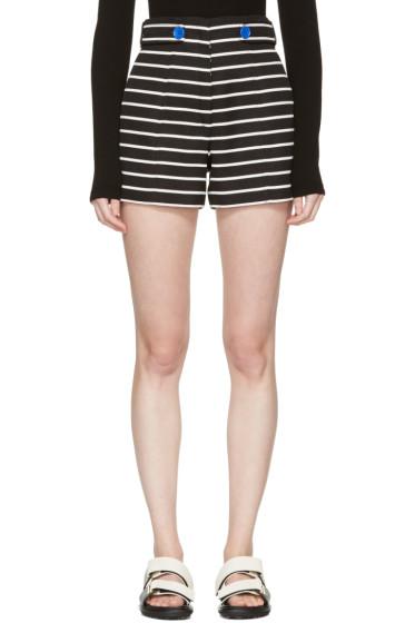 Proenza Schouler - Black & White Striped Shorts