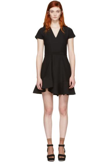 Carven - Black Ruffled Dress