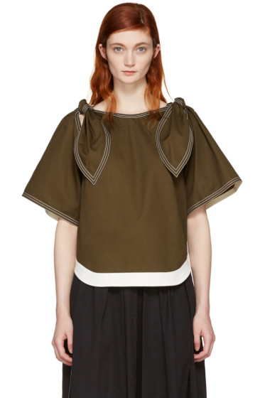 Chloé - Brown Bow Sleeves Blouse