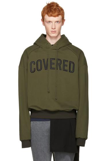 Juun.J - Green 'Covered' Hoodie