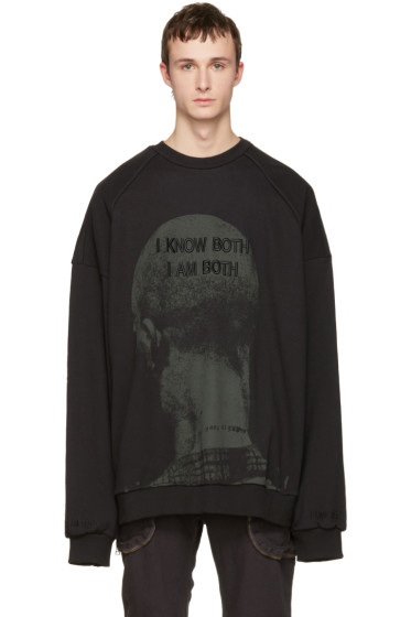 Juun.J - Black 'I Know Both I Am Both' Pullover