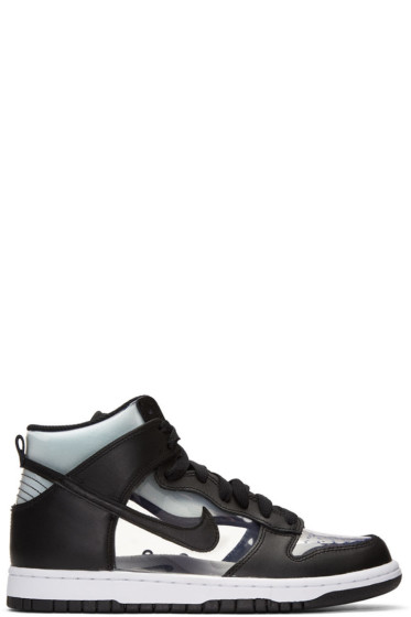Comme des Garçons Homme Plus - Black NikeLab Edition Dunk Hi Retro Invisible High-Top Sneakers