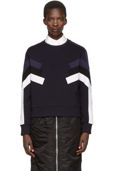 Neil Barrett - Navy Panelled Modernist Pullover