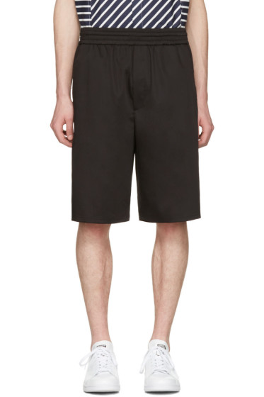Neil Barrett - Black Washed Slouch Shorts