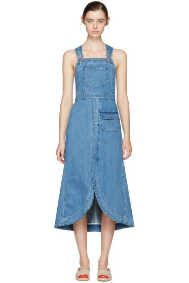 See by Chloé - Indigo Denim Overall Dress