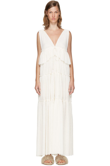 See by Chloé - Off-White Long Gauze Jersey Dress