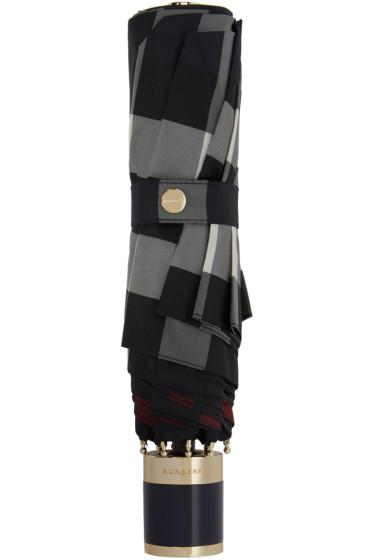 Burberry - Navy Check Trafalgar Umbrella
