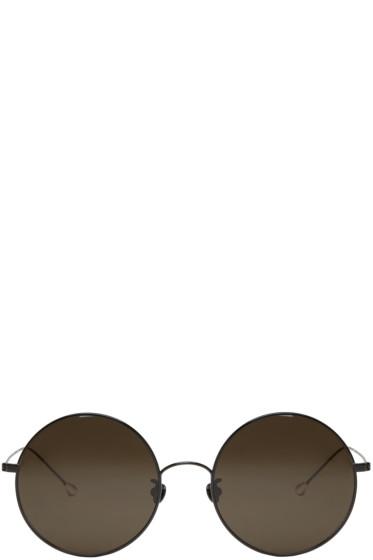 Ann Demeulemeester - Black Large Round Sunglasses