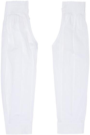 Ann Demeulemeester - White Pleated Sleeves