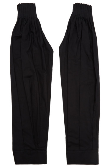 Ann Demeulemeester - Black Pleated Sleeves