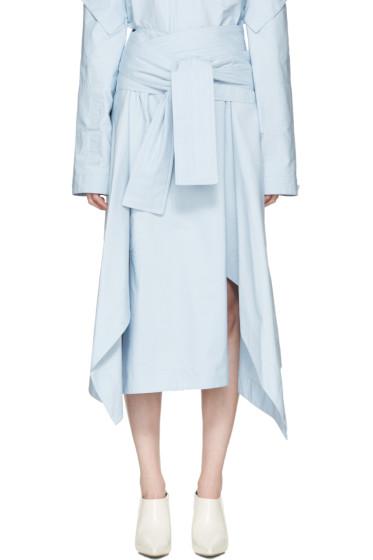 Marni - Blue Belted Wrap Skirt