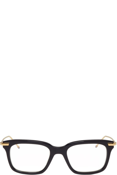 Thom Browne - Navy & Gold TB-701 Glasses