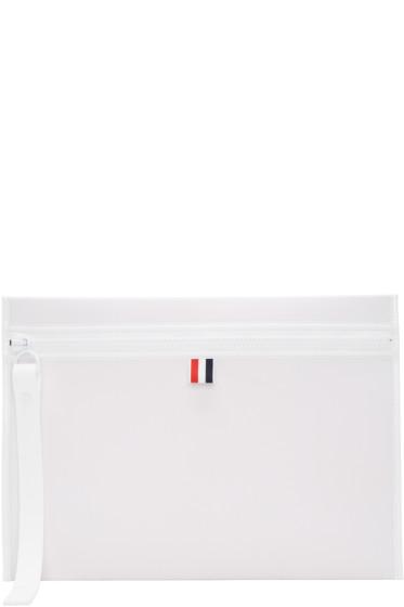 Thom Browne - Off-White Neoprene Laptop Case