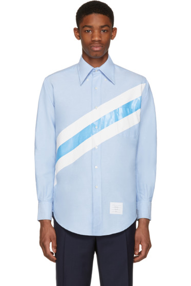 Thom Browne - Blue Diagonal Stripe Classic Shirt
