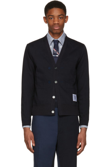 Thom Browne - Navy Trompe L'Oeil Sport Coat Cardigan