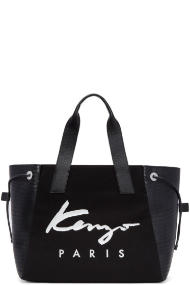 Kenzo - Black Large Logo Essentials Tote