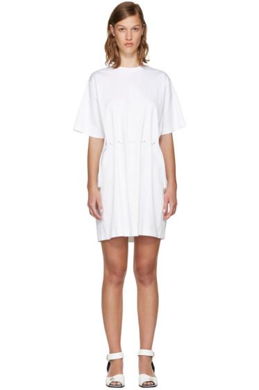 Kenzo - White Drawstring T-Shirt Dress