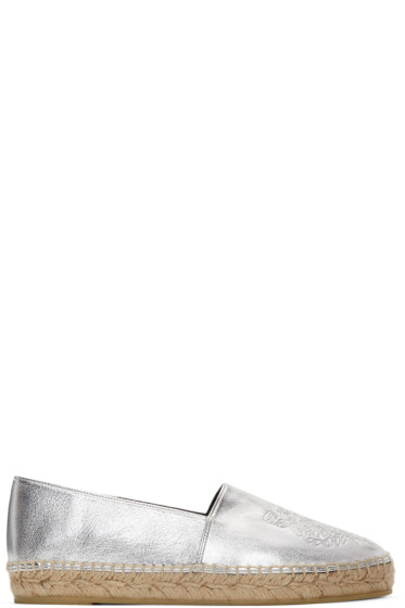 Kenzo - Silver Leather Tiger Espadrilles
