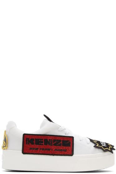 Kenzo - White K-Patch Platform Sneakers