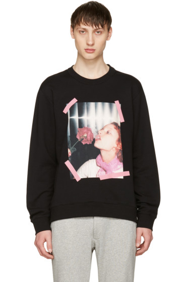 Kenzo - Black 'Girl With Rose' Sweatshirt