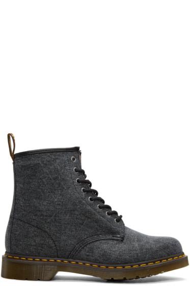 Dr. Martens - Black Canvas 1460 Boots