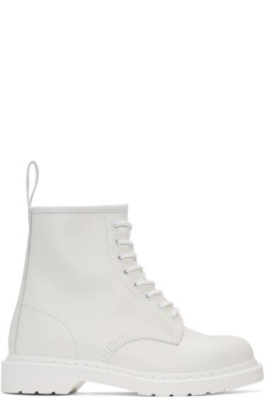 Dr. Martens - White 1460 Mono Boots