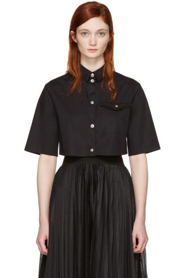 Versus - Black Cropped Poplin Shirt