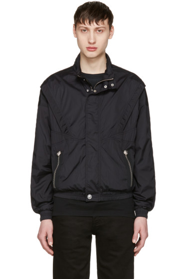 Versus - Black Nylon Hooded Jacket