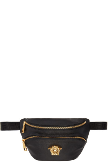 Versace - Black Leather Medusa Belt Pouch