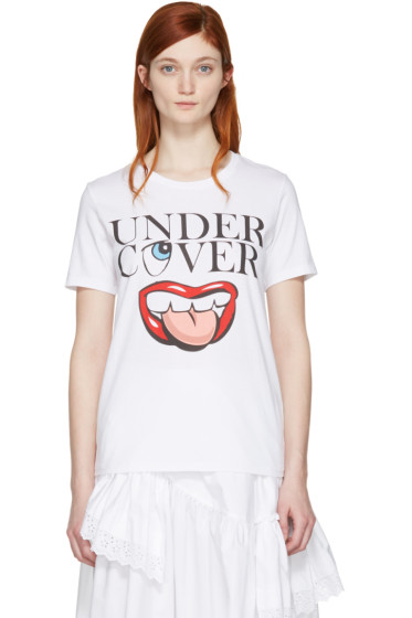 Undercover - White Mouth Logo T-Shirt
