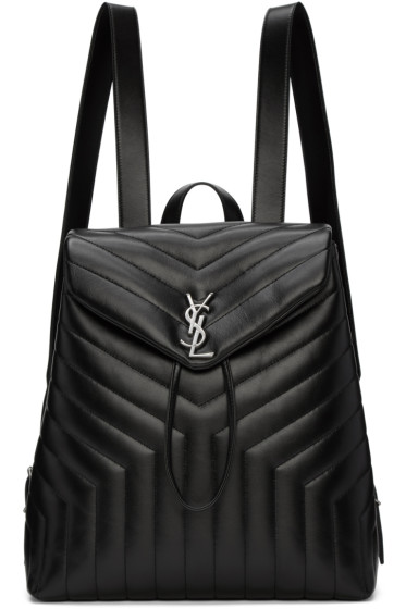Saint Laurent - Sac à dos à monogramme noir Medium Loulou