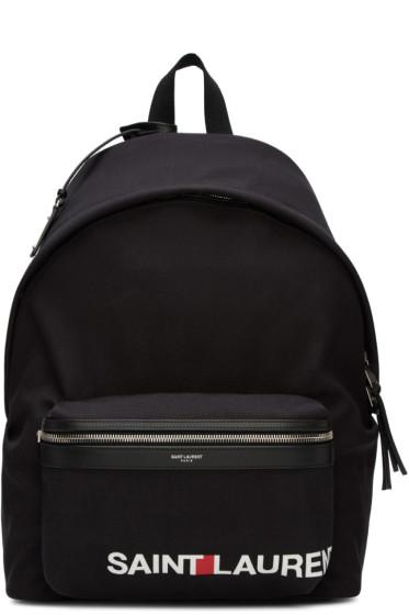 Saint Laurent - Black Rive Gauche City Backpack