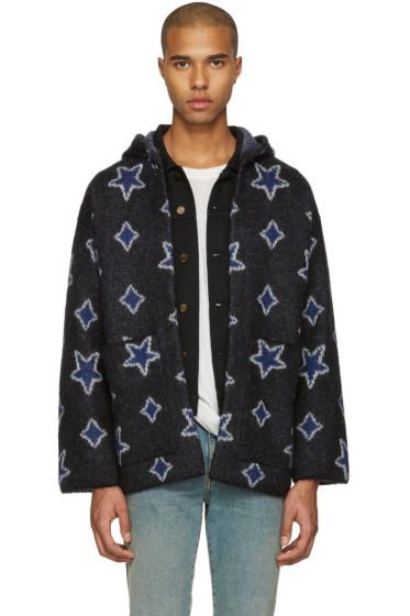 Saint Laurent - Black Star Oversized Cardigan