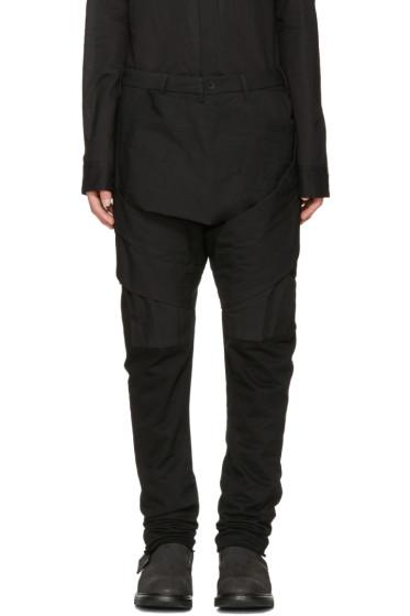 Julius - Black Layered Bands Trousers