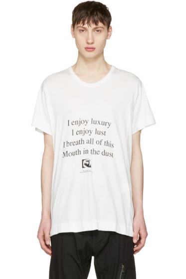 Julius - White 'I Enjoy Luxury' T-Shirt