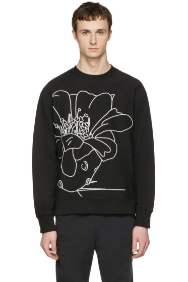 PS by Paul Smith - Black Embroidered Pullover