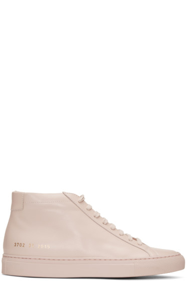 Woman by Common Projects - Pink Original Achilles Mid Sneakers