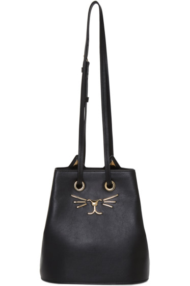 Charlotte Olympia - Black Feline Bucket Bag