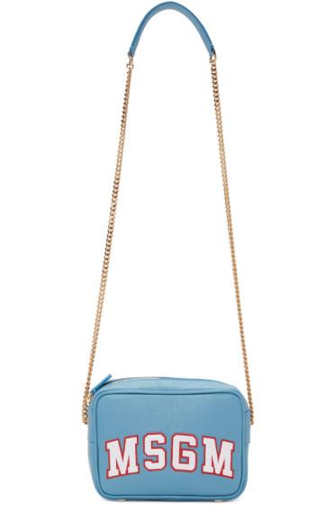 MSGM - Blue Logo Shoulder Bag