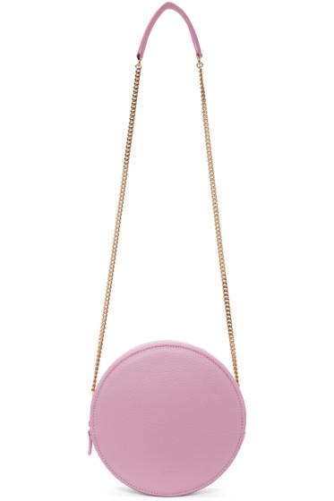 MSGM - Pink Round Geometric Shoulder Bag