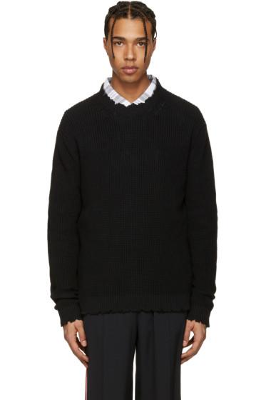 MSGM - Black Destroyed Sweater