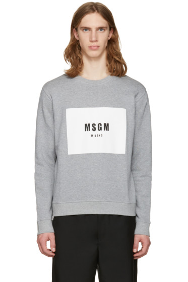 MSGM - Grey Box Logo Pullover