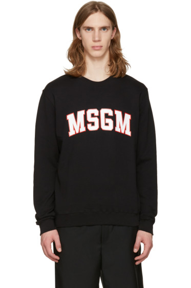 MSGM - Black Outline Logo Pullover