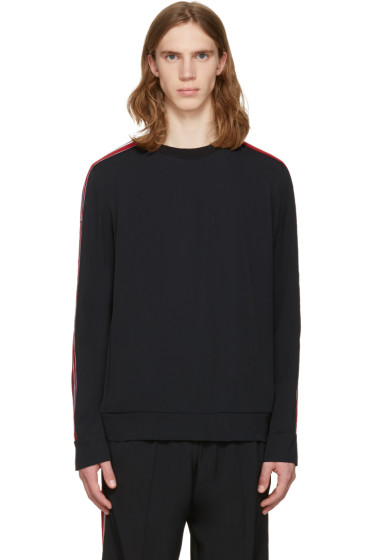 MSGM - Black Arm Stripes Sweatshirt