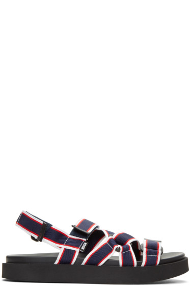 MSGM - Tricolor Multi Strap Wrap Sandals