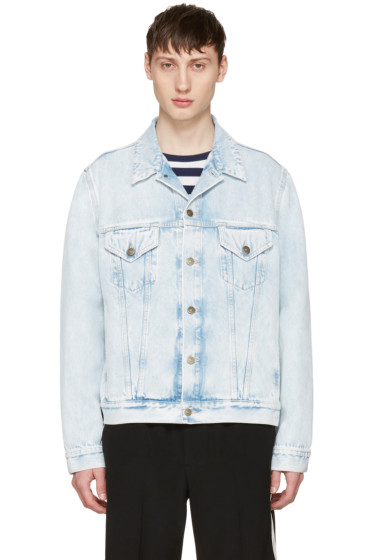 Gucci - Blue Denim 'Loved' Angry Cat Embroidery Jacket