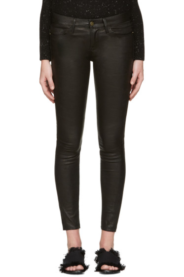 Frame Denim - Black Le Leather Pants