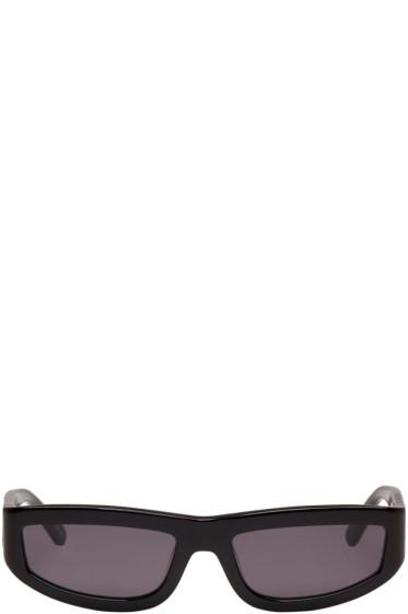 Stella McCartney - Black Rectangular Slim Sunglasses