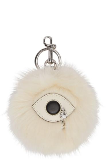 Stella McCartney - Ivory Faux-Fur Eye Keychain